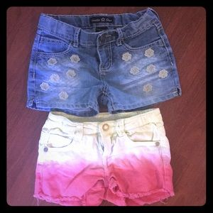 Two pairs girls shorts